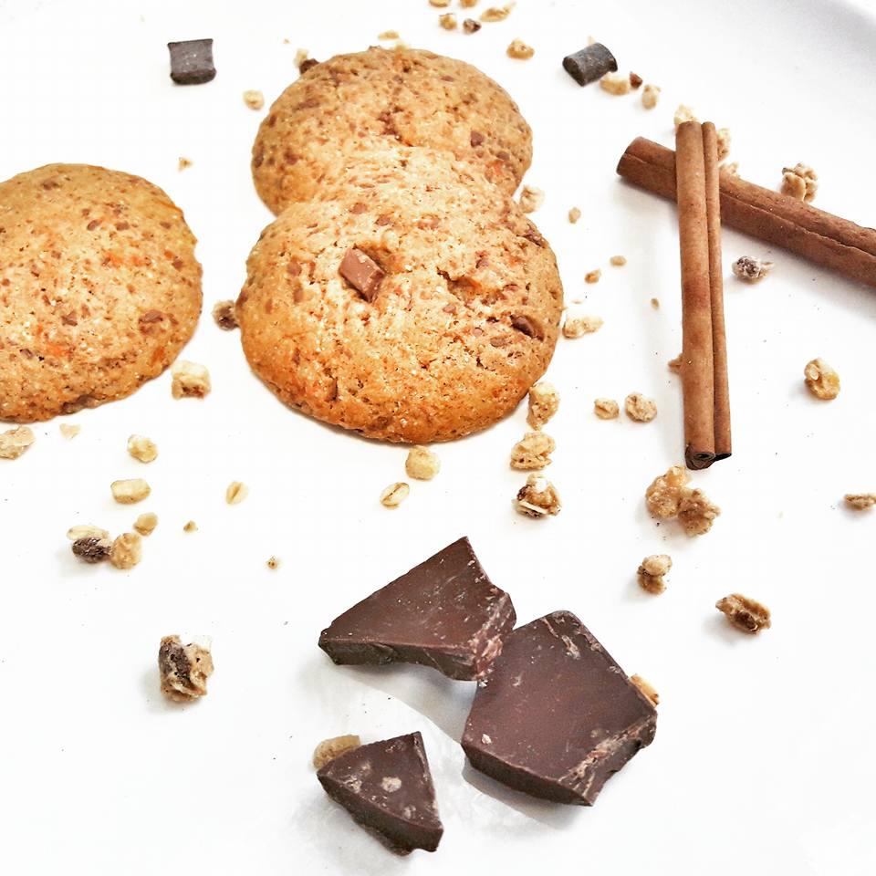 dyniowe ciasteczka z czekolada