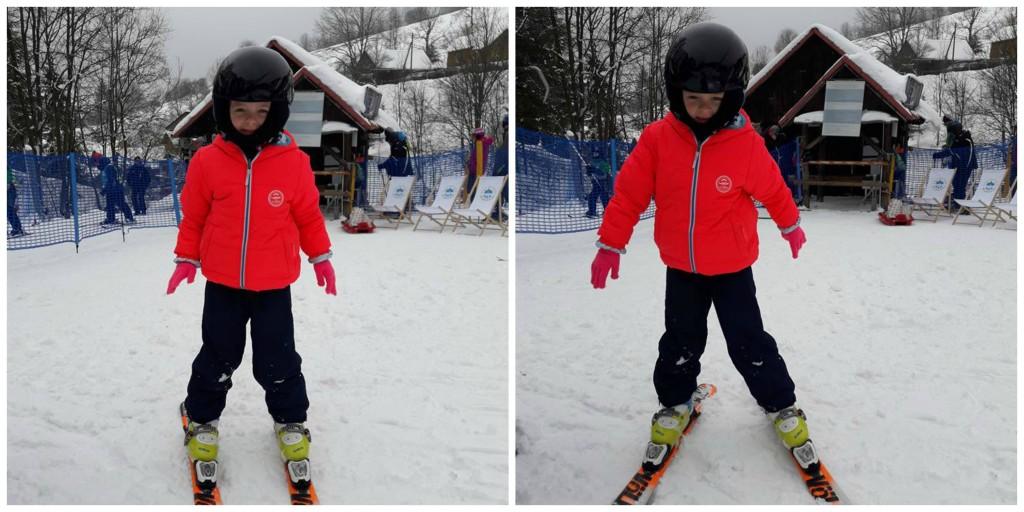 Dziecko na nartach Wierchomla