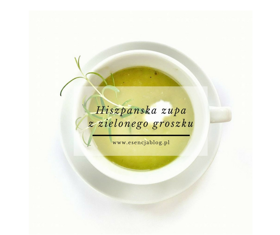 Hiszpanska zupa z zielonego groszku