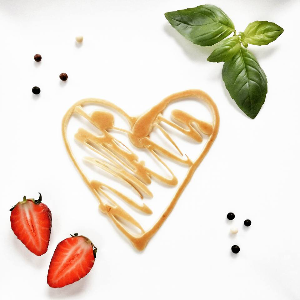 Ozdoby z ciasta nalesnikowego Serce