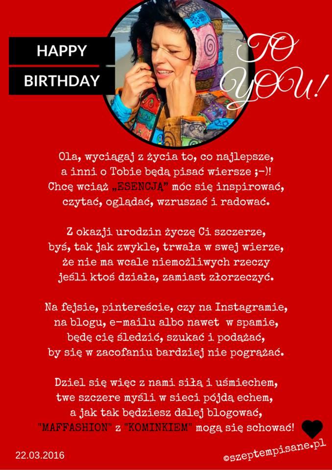 Wiersz urodzinowy dla Oli_Esencja