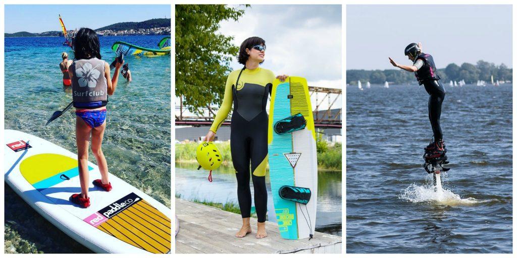 Sezonowe odkrycia sporty wodne