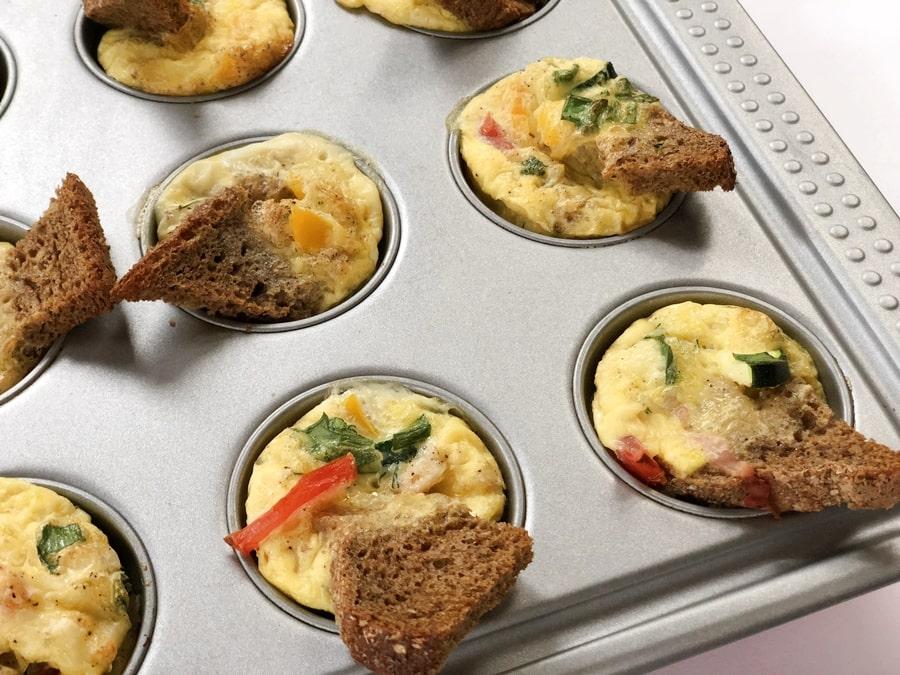 wytrawne muffiny jajeczno-warzywne