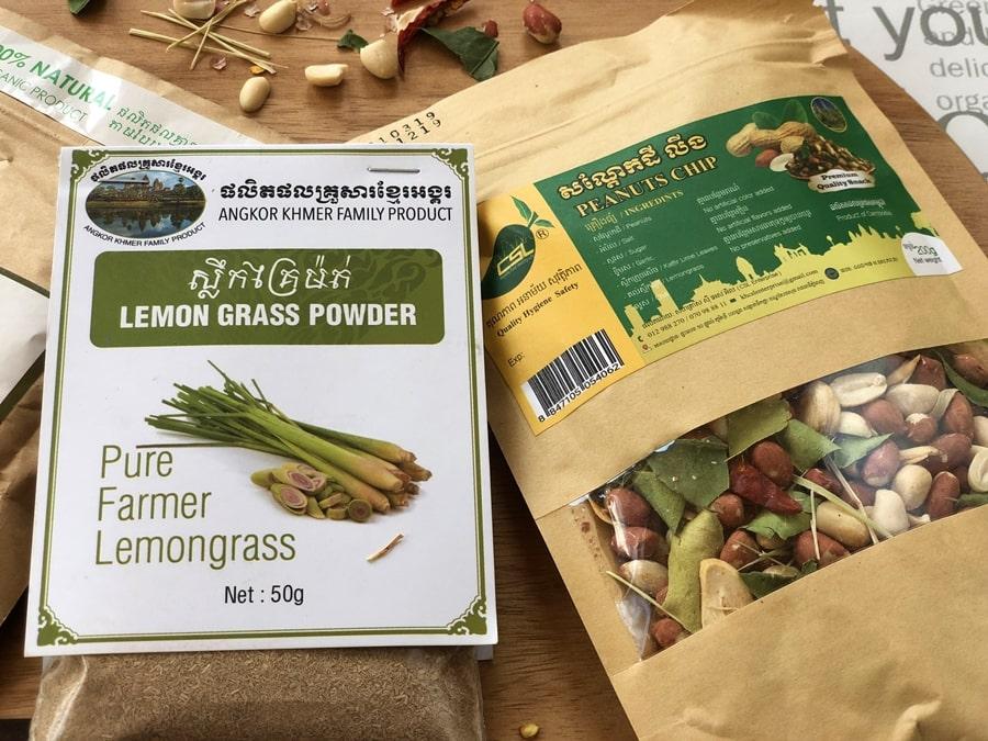 trawa cytrynowa przyprawa orzeszki