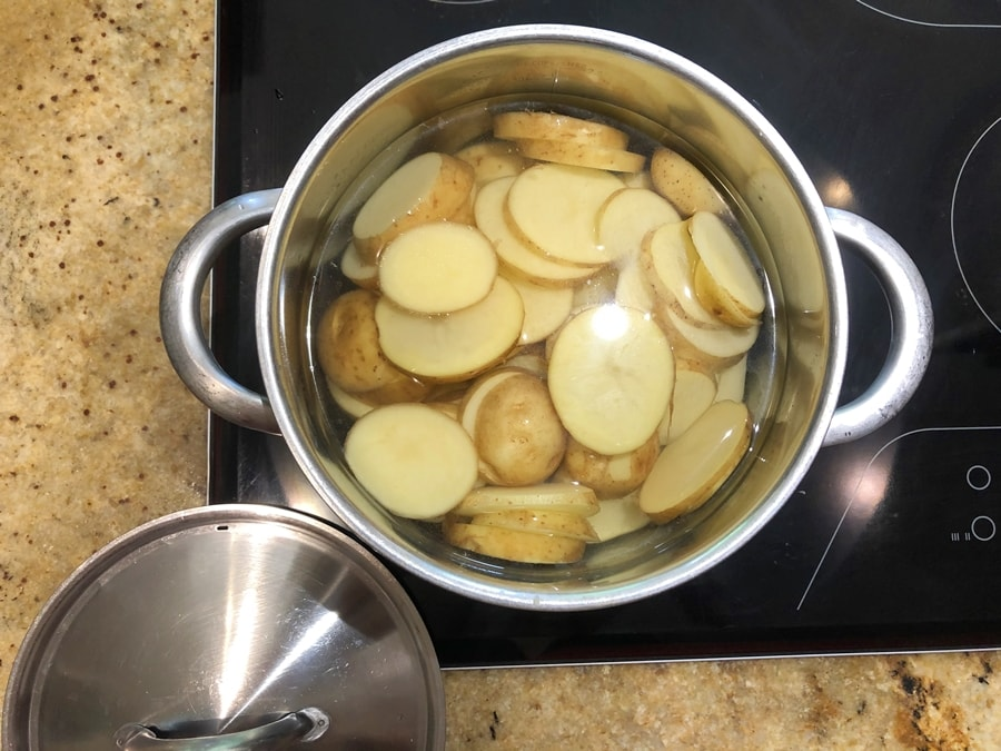zapiekanka złososia, ziemniaków icukini 1