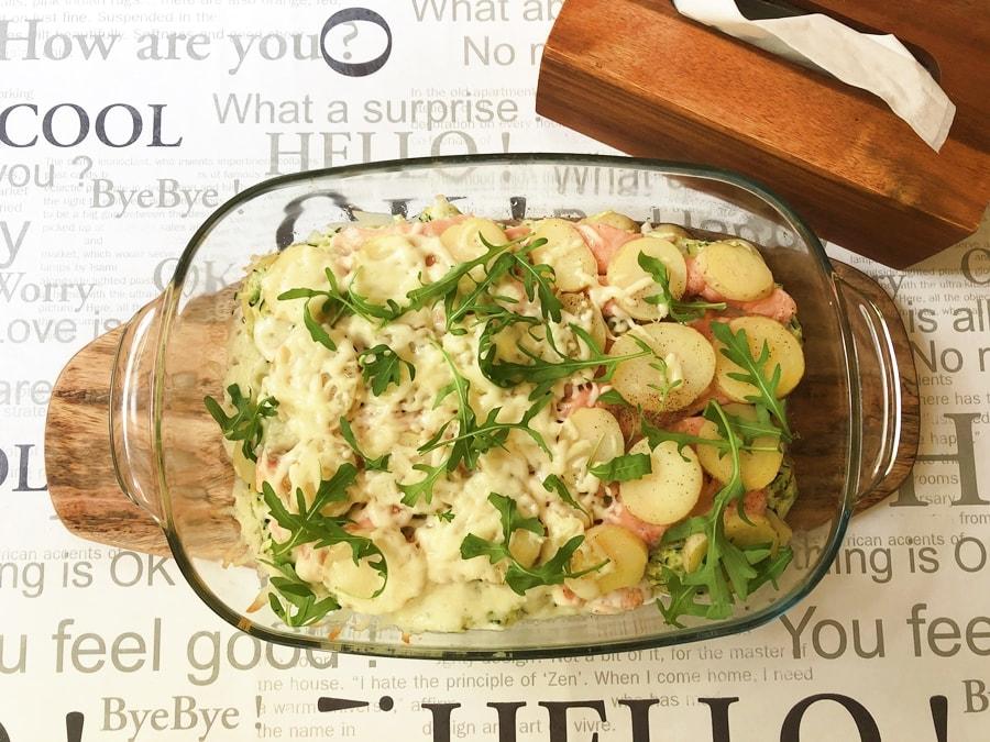 zapiekanka złososia, ziemniaków icukini 5